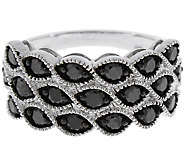 Black Diamond Band Ring, Sterling, 1.25 cttw, by Affinity - J344131