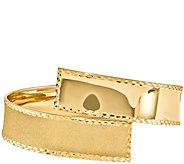 14K Gold Wide Crossover Wrap Bangle, 14.6g - J344931