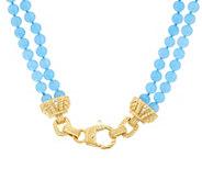 Judith Ripka Sterling & 14K Clad Jade Bead 18 Necklace - J348231