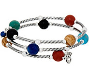 American West Gemstone Bead & Sterling Silver Coil Wrap Bracelet - J351731