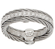 ALOR Cable Stainless Steel & Diamond Band Ring - J352531