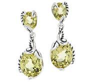 Carolyn Pollack Capri 10.00cttw Sterling Silver Quartz Drop Earrings - J355131
