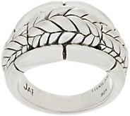 JAI Sterling Silver Basketweave Engraved Ring - J358831