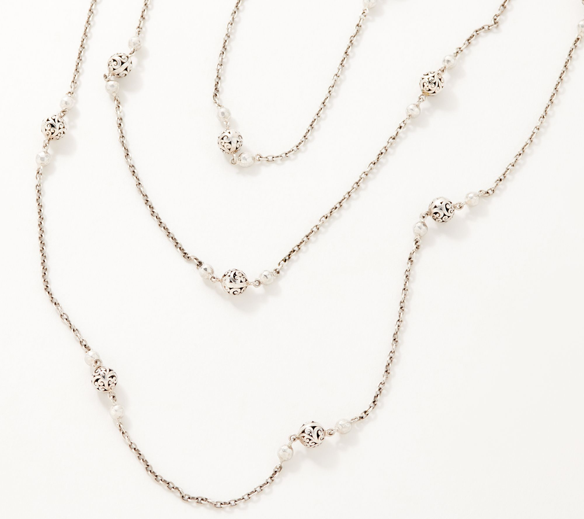 28% off a sterling silver beaded station necklace