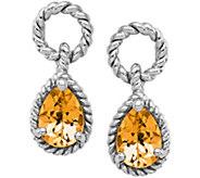 Sterling Gemstone Door Knocker Style Earrings - J374831