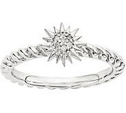 Simply Stacks Sterling Diamond Sun Ring - J376431