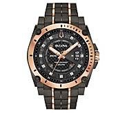 Bulova Mens Gray Precisionist Diamond Dial Watch - J383831