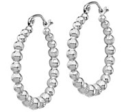 14K Gold 1 Graduated Beaded Hoop Earrings - J385731