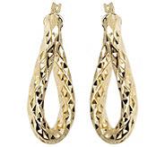Arte dOro Twisted Diamond-Cut Oval Hoop Earr ings, 18K - J388531