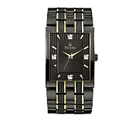 Bulova Mens Diamond Dial Watch - J112932
