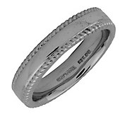 Simply Stacks Sterling Black Rhodium-Plated 4.25mm Ribbed Ring - J298132