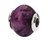 Prerogatives Sterling Smooth Purple Magnesite Gemstone Bead - J298232