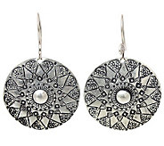 Novica Artisan Crafted Sterling Floral SheildEarrings - J310032