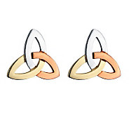 Solvar Tri-Color Trinity Knot Earrings, 14K Gold - J311332