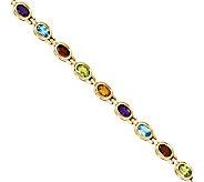 8.10ct tw 7 Multi-gemstone Bracelet, 14K Gold - J311832