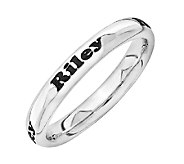 Simply Stacks Sterling Personalized Band Ring - J315232