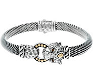 JAI Sterling Silver & 14K Figural Mesh Bracelet - J347532