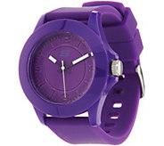 Skechers Womens Purple Silicone Strap Watch - Rosencrans - J348032