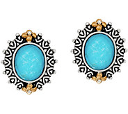 Barbara Bixby Sterling & 18K Turquoise Doublet Button Earrings - J349832