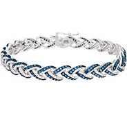 Woven 2.25 cttw Diamond 8 Tennis Bracelet Sterling, by Affinity - J352032