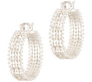 Imperial Silver Wheat Hoop Earrings, Sterling - J354832