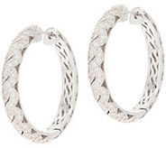 TOVA for Diamonique Milgrain Detail Hoop Earrings, Sterling - J355332