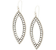 Artisan Crafted Sterling Silver Dot Design Drop Earrings - J355432