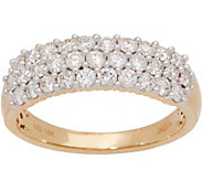 Affinity Diamond 14K Gold Band Ring, 1.00 cttw - J360032