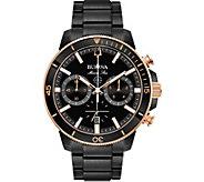 Bulova Mens Marine Star Black Chronograph Watch - J378532