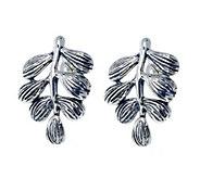 Hagit Sterling Branch & Leaf Earrings - J379032