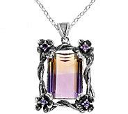 Or Paz Sterling 14.75 cttw Ametrine Pendant w/ Chain - J379332