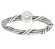 PeterThomas Roth Sterl White Sapphire SignatureRomance Ring - J379632