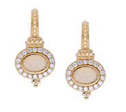 Judith Ripka 14K Gold Opal and Diamond Earrings - J379732