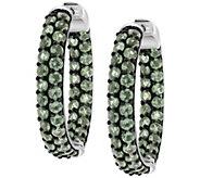 Sterling Mint Apatite Hoop Earrings - J392432