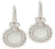 Judith Ripka Sterling Flora Diamonique & Oval Gemstone DoubletEarrings - J159933