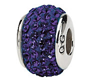 Prerogatives Sterling Purple Full Swarovski Crystal Bead - J299633