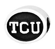 Sterling Silver Texas Christian University Bead - J300733