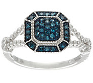 Pave Color Diamond Ring, Sterling, 1/4 cttw, by Affinity - J332933