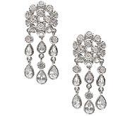 Judith Ripka Sterling 6.20cttw Diamonique Chandelier Earrings - J338033