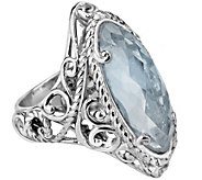 Carolyn Pollack Signature Sterling Blue Topaz Marquise Ring - J343633