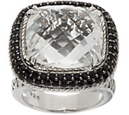 DeLatori Sterling Silver Gemstone Cushion Cut Ring - J350433