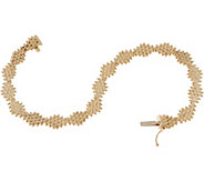 Imperial Gold Diamond Shape Lame Bracelet, 14K Gold - J351733