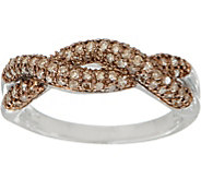 Woven Design 1/2 cttw Diamond Band Ring, Sterling, by Affinity - J352033