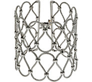 ALOR Cable Stainless Steel Wide Openwork Bangle - J352533