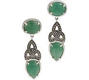 Solvar Sterling Silver Green Aventurine Earrings - J352733