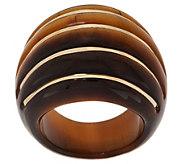 Italian Gold Bold Carved Gemstone Ring, 14K Gold - J355633