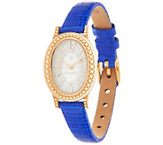 Judith Ripka 14K Gold & Lizard Strap Watch - J357633
