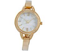 Diamonique Round Watch with Bracelet Strap, Boxed - J358633