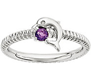 Simply Stacks Sterling Gemstone Dolphin Ring - J376433