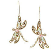 Black Hills Dragonfly Earrings, 10K/12K Gold - J383933